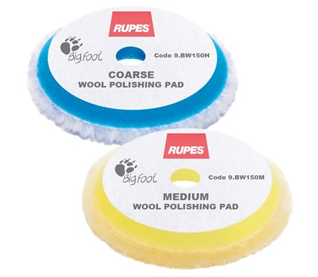 9.BW150 Wool Polishing Pad Ø130/150 mm