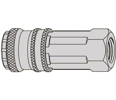 "Series 320 eSafe Coupling Female Thread 1/4"" NBR"