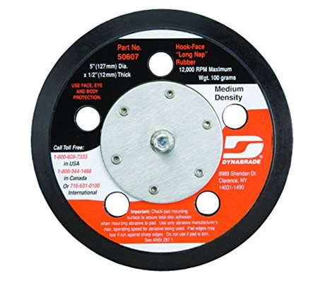 Dynabrade 50607 127 mm Vacuum Disc Pad Hook-Face Long Nap