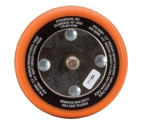 Dynabrade 56087 76 mm Non-Vacuum Disc Pad Hook-Face Short Nap