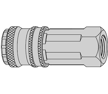 "Series 320 eSafe Coupling Female Thread 3/8"" NBR"